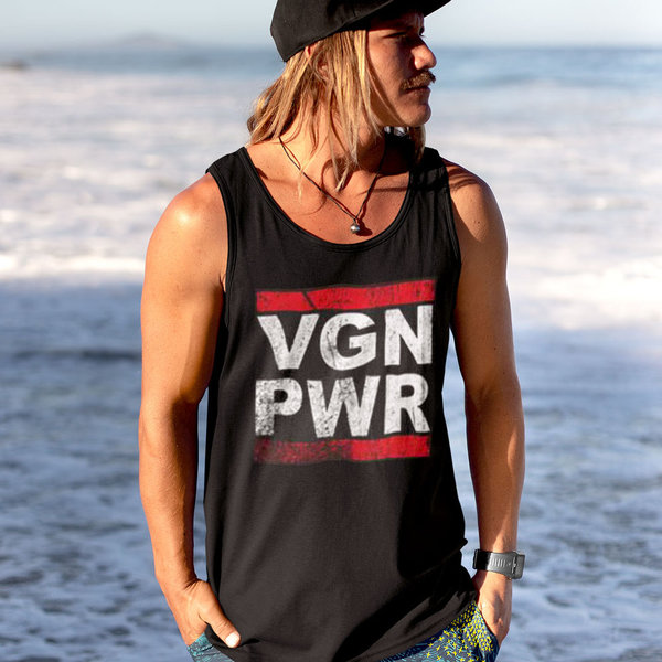 VGN PWR  TANK TOP  (MEN) - [organic & fairtrade]