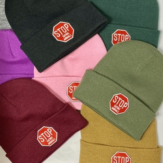 STOP EATING ANIMALS  -BEANIE-